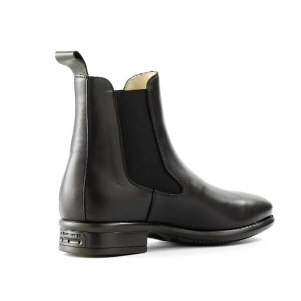 Tattini Boots - Half Boot - Black Alano Back Right Side - Italian English Paddock Boots