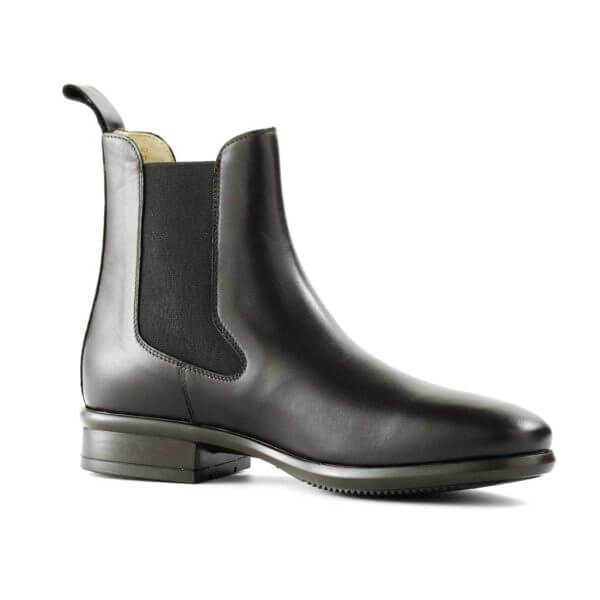 Tattini Boots - Half Boot - Black Alano Right Side - Italian English Paddock Boots