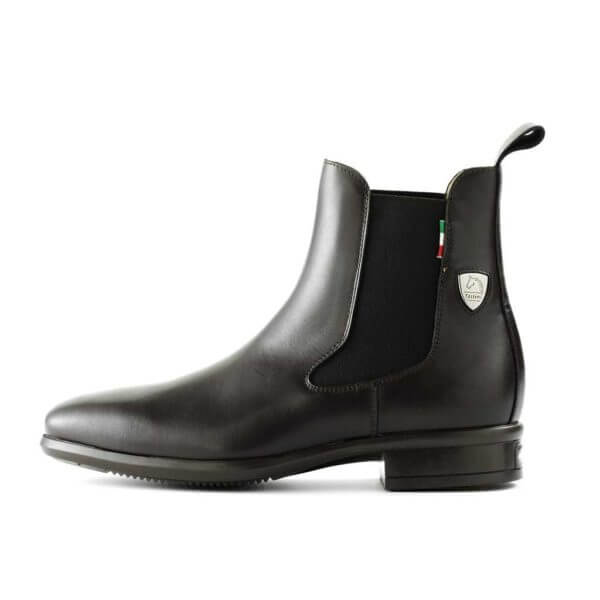Tattini Boots - Half Boot - Black Alano Left Side - Italian English Paddock Boots