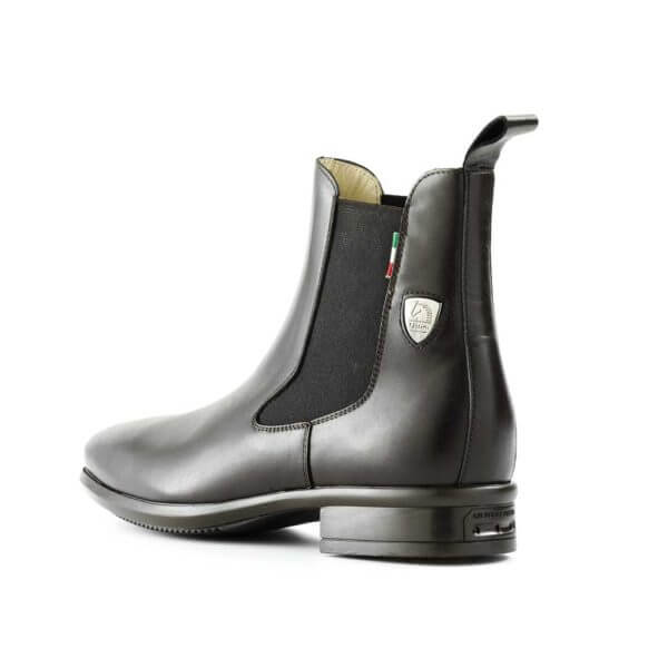 Tattini Boots - Half Boot - Black Alano Back Left Side - Italian English Paddock Boots