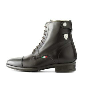 Tattini Boots - Half Boots - Black Beagle Left Side - Italian English Paddock Boots