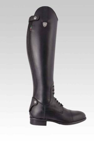 Tattini Boots - Italian English Riding Boots - Tall Boots - Boxer Smooth Leather Outside View - Dressage Boots and Field Boots