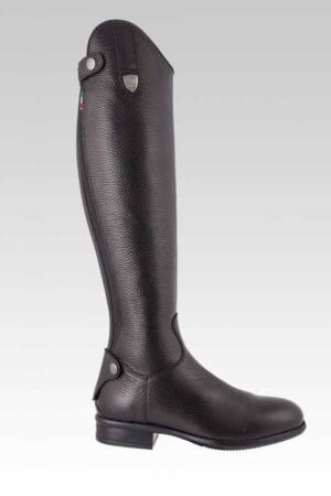 Tattini Boots: Equestrian Italian English Riding Boots - Tall Boots Grained Leather - Bracco Outside View - Dressage Boots and Field Boots