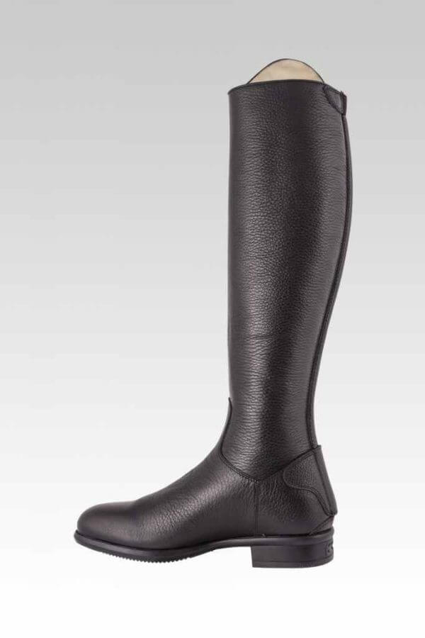 Tattini Boots: Equestrian Italian English Riding Boots - Tall Boots Grained Leather - Bracco Inside View - Dressage and Field Boots