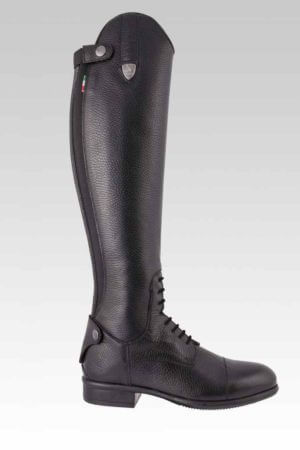 Tattini Equestrian Riding Boots - Tall Boots - Breton Grained Leather Side with Laces