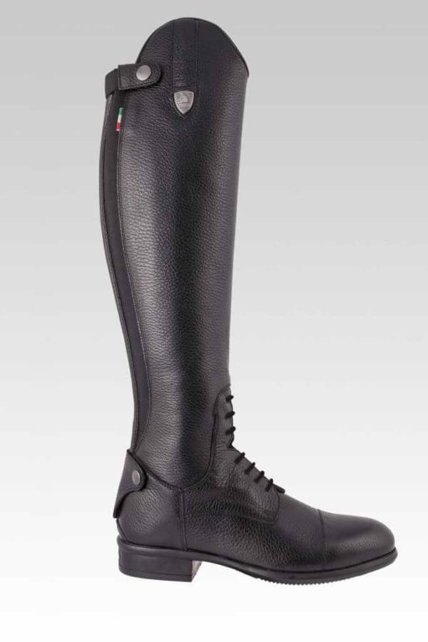 Tattini Boots - Equestrian Italian English Riding Boots - Tall Boots Grained Leather - Breton Outside View - Dressage and Field Boots