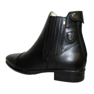 Tattini Boots - Collie Back Left Side - Half Boots - Premium Italian English Dressage Boots