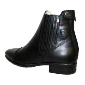 Tattini Boots - Collie Back Left Side - Half Boots - Premium Italian English Dressage Boots