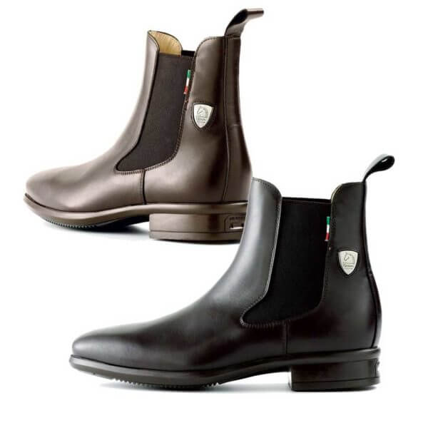 Tattini Boots - Half Boot - Black and Brown Alano - Italian English Paddock Boots