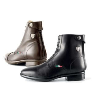 Tattini Boots - Half Boots - Brown and Black Beagle - Italian English Paddock Boots