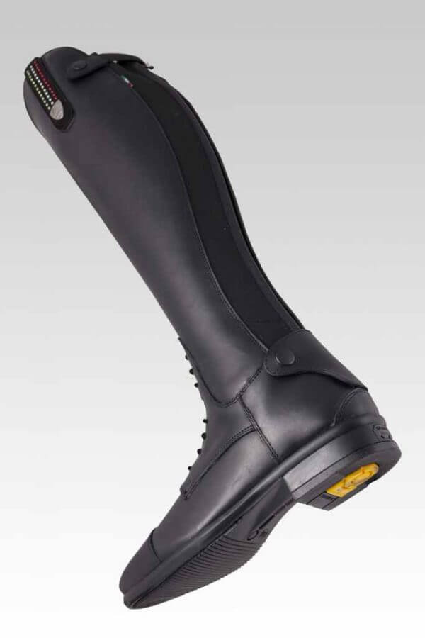 Tattini Boots - Tall Boots - Retriever with Interchangeable Straps - Under Foot View - Italian English Riding Boots