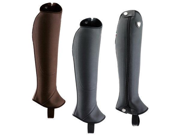 Tattini Boots - Bi Stretch Half Chaps - Black and Brown - English Riding Chaps