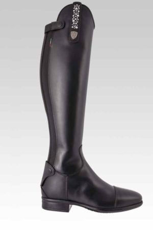Tattini Boots - Tall Boots - Terranova with Interchangeable Straps - Outside View - Italian English Riding Boots