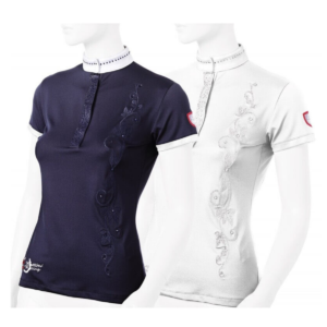 Tattini Boots - Ladies Show Shirt with Foliages - Italian English Field Boot Store.png