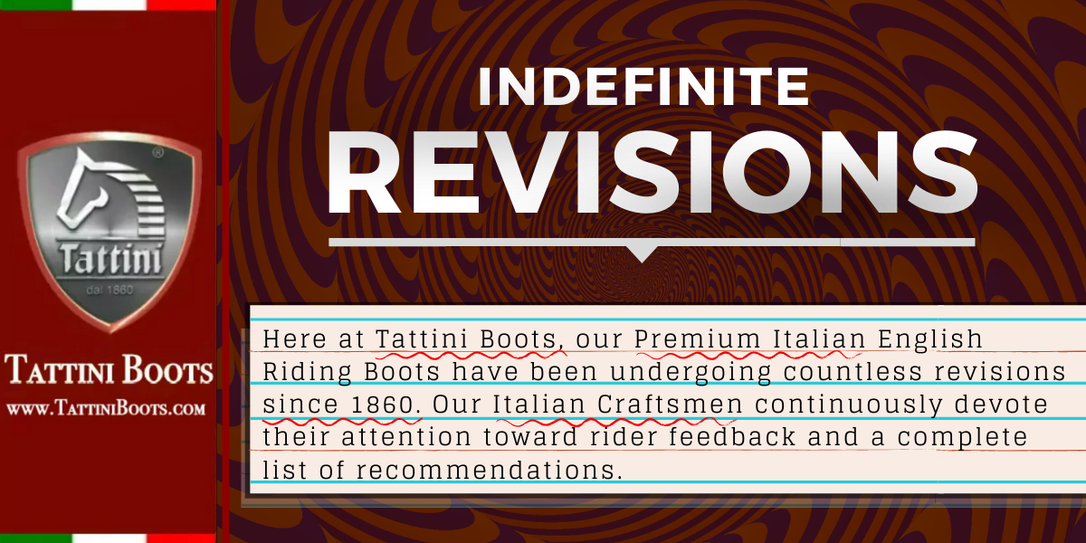 Tattini Boots - Blog - Indefinite Revisions - Italian English Riding Boots - Dressage Boots - Field Boots